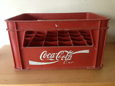 Used  BOX for 24 bottles COCA-COLA CAJA para 24 botellas  Red Plastic Rojo Usada