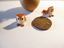 1:12 Scale 2 DOLLS HOUSE MINIATURE RESIN OWLS BB