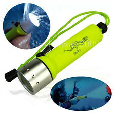 Yellow 1200LM Scuba Dive Diving Waterproof UnderWater Led Flashlight Torch
