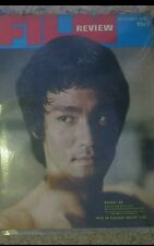 Bruce lee, on cover of  September  1974 film review .good  condition.