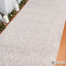 Two Hearts Wedding Aisle Runner (white) , 100 ft x 3 ft.