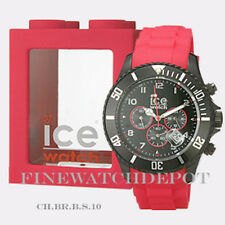 Authentic Ice Sili Chrono Black & Red Big Watch CH.BR.B.S.10