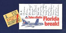 """Donna McKechnie """"A CHORUS LINE"""" Michael Bennett / Marvin Hamlisch 1976 Ticket"""