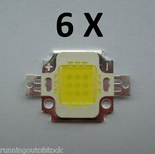 6 pcs 10W white High Power LED SMD bead Chips bulb light lamp DC9-12V