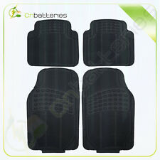 4Pc Set Rubber Floor Mats for Car - Heavy Duty All Weather Safeguard Black New