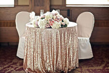 Sequin Tablecloth Wedding Cake Tablecloth (90''Round)for Wedding