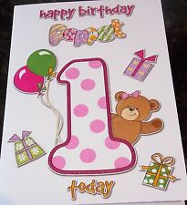 Girl's 1st Birthday card by Eclipse cards. 13 available - Multi Listing