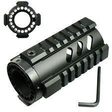 "4"" Free Float Hand guard Quad Rail Pistol Length Handguard for RPR - Black"