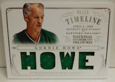 2013-14 Panini National Treasures Gordie Howe SP Timeline Jersey # 5 / 25