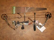 New Parker Eagle RH single cam compound bow package w arrows