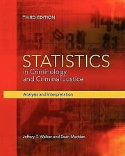 Statistics in Criminology and Criminal Justice: Analysis and-ExLibrary -A-