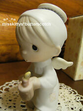 Precious Moments~NATIVITY~The FIRST Noel~E2365~Boy ANGEL with Candle~hourglass
