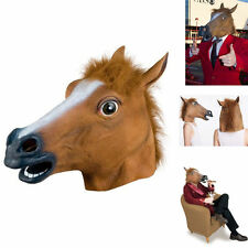 Horse Head Mask Latex Costume Prop Gangnam Style Toys Party Halloween DE