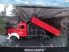 1/43  Minichamps Mercedes L 3500K Kipper Truck  Fire   1 of 1008