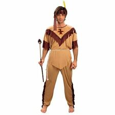 MENS ADULT INDIAN CHIEF FANCY DRESS COSTUME OUTFIT HALLOWEEN STAG WESTERN