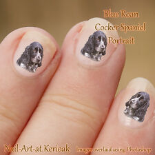 Cocker Spaniel, Blue Roan,  Dog Nail Art Stickers great stocking fillers Decals
