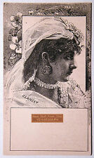 "LOVELY LADY'S FACE (CLANCEY), MUCH RARER, UNCIRCULATED ""STOCK"" TRADE CARD 1880s"