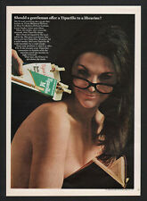 1967 TIPARILLO Cigars - Sexy Busty Nude Topless Woman Librarian - VINTAGE AD