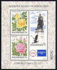 Hungary 1986 StampEx/Flowers/Eagle/Bird/Rose m/s n29625