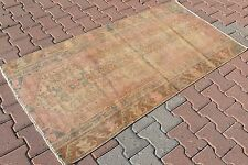 Vintage Turkish Oushak Small Antique Hand Knotted Rug Pile Area Rug 70'' x 37''