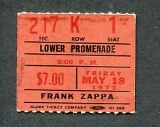 1973 Mothers Invention Zappa concert ticket stub Uniondale Over Nite Sensation