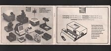 DÜSSELDORF Bedienungsanleitung 1980 Ed. Liesegang Fantimat 150 und 250 Projektor