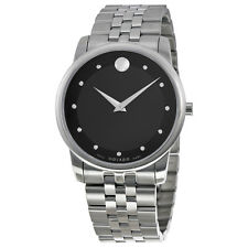 Movado Museum Classic Black Dial Stainless Steel Ladies Watch 0606878