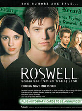 ROSWELL SEASON ONE TRADING CARDS SELL SHEET