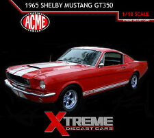ACME A1801802R 1:18 1965 FORD SHELBY MUSTANG GT 350 RED LT ED DEALER EXCLUSIVE