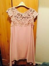 Monsoon Size 8 Pink And Lace Dress RRP £99 Bnwt