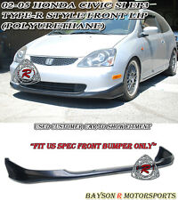 TR-Style Front Lip (Urethane) Fits 02-05 Civic 3dr Si EP3