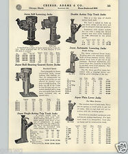 1937 PAPER AD Joyce Brand Railroad Bridge Building Jack Jacks Hydraulic Parts