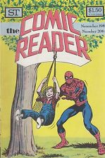 COMIC READER #206 fanzine (1982) Spider-Man Batman covers