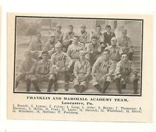 Franklin & Marshall Academy Lancaster PA 1911 Team Picture Baseball
