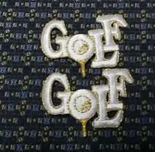 LOT OF 2 GOLF (WHITE) Iron or Sew-On Patch