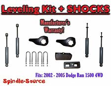 "2002 - 05 Dodge RAM 1500 4x4 4WD 1-3"" / 3"" Torsion Leveling KIT Keys + Shocks"