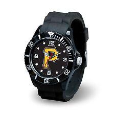 Pittsburgh Pirates MLB Baseball Team Men's Black Sparo Spirit Watch