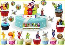 TELETUBBIES Cup Cake Scene Kid Toppers Birthday Party Rice Wafer Edible STAND UP