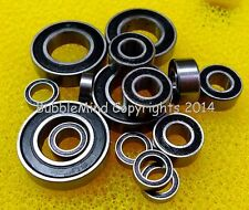 (BLACK) DURATRAX 1/8 AXIS BUGGY Rubber Sealed RC Ball Bearing Bearings Set