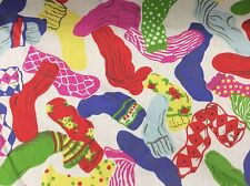 COLORFUL SOCKS--COTTON-    BY THE YARD