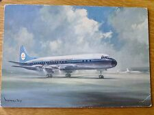 Vintage airline issue KLM colour postcard Lockheed Electra (artists impression)