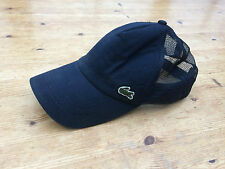 VTG LACOSTE BASEBALL CAP ONE SIZE PANEL CASUAL NAVY ADJUSTABLE STRAP