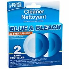 2 Automatic Blue & Bleach Toilet Bowl Tank Cleaning Tablets Cleaner BEST SELLER