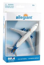 ALLEGIANT AIRLINES AIRBUS A320 DIECAST METAL MODEL PLANE FUN TOY GIFT USA