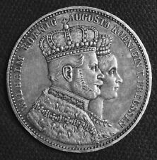 GERMANY 1 Thaler couronnement de Guillaume Ier et Augusta,  Prusse 1861