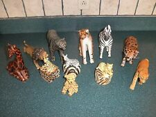 Lot of 8 African Safari Animals different materials+3 pill boxes