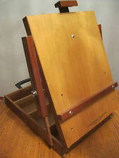 Vintage Artist Table Top Box Easel Mahogany Wood Brand New Made in Brazil)