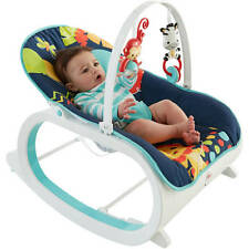 Fisher Price Infant To Toddler Rocker Baby Seat Bouncer Chair Sleeper Toy Blue