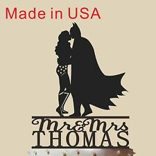 Personalized Cake Topper For Wedding Mr and Mrs ,Wonder Woman and Batman 5''