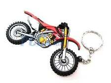 Rubber Keychain Key Chain Motocross Dirt Bike Honda CRF XR I KC01